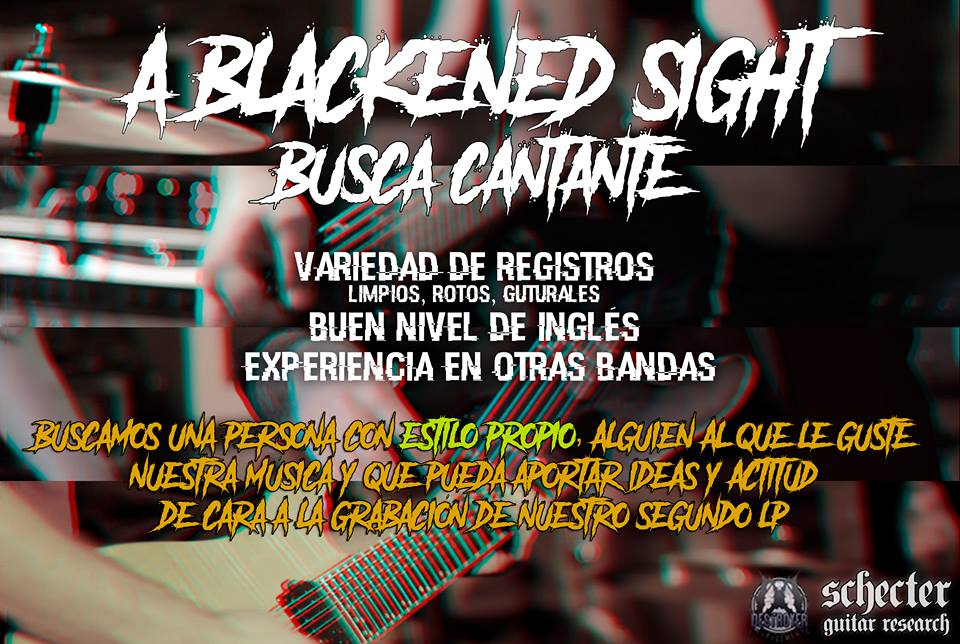 A Blackened Sight busca vocalista (Metal)