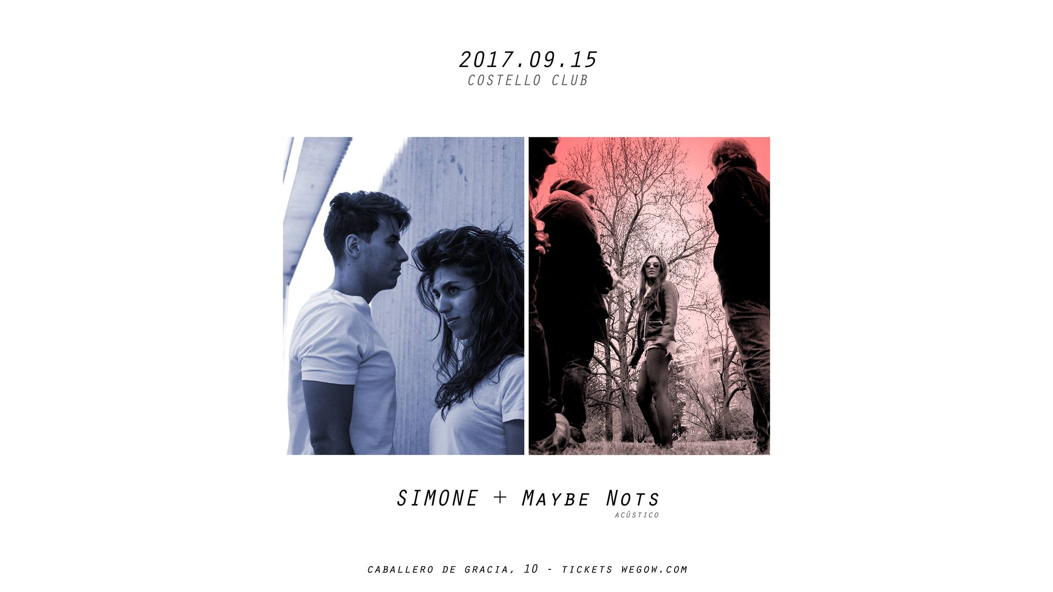 SIMONE + Maybe Nots [Costello Club 15.09] Madrid